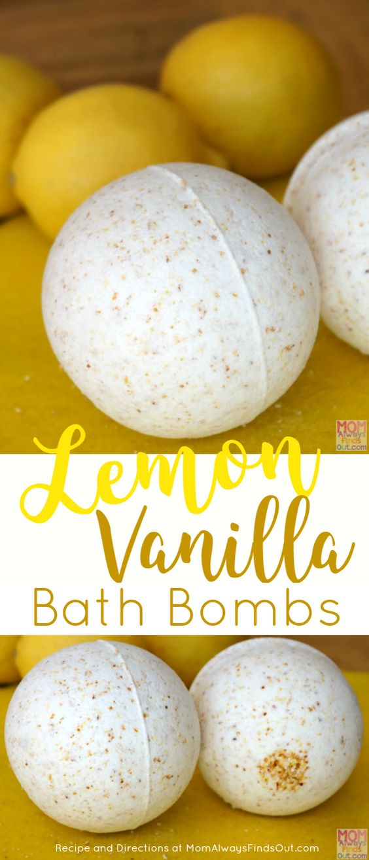 Lemon Vanilla Bath Bombs