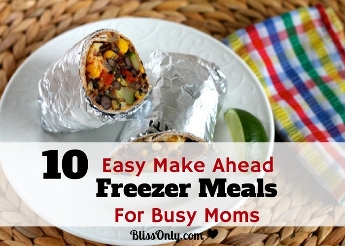 10 Easy Make Ahead Freezer Meals For Busy Moms