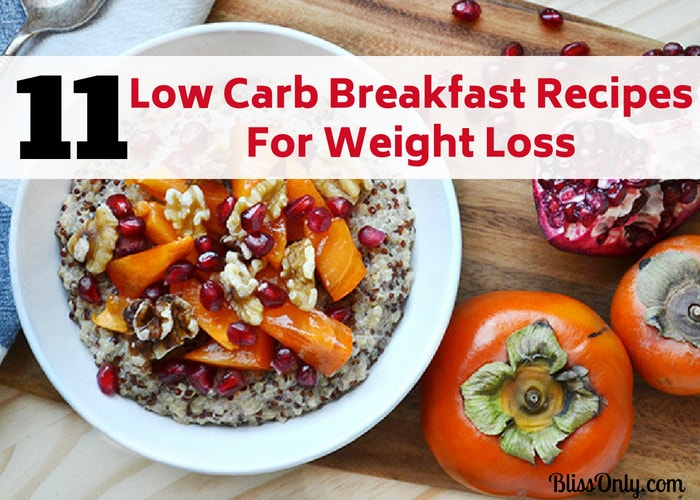 low carb breakfast for weight loss