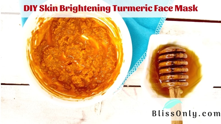 DIY Skin Brightening Turmeric Face Mask