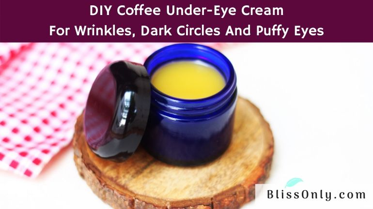 coffee under-eye cream